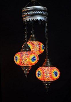 Oosterse lamp multi 3 bollen - Turkse Lampen Online