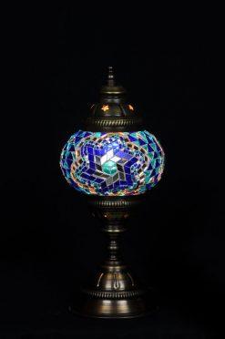 Turkse tafellamp blauw