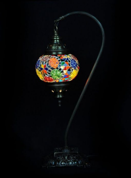 Turkse tafellamp mozaïek multicolour veilig bestellen, gratis verzenden