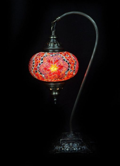Turkse tafellamp mozaïek oranje veilig online bestellen, gratis verzenden