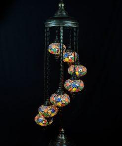 Turkse vloerlamp multicolour 7 bollen - Turkse Lampen Online
