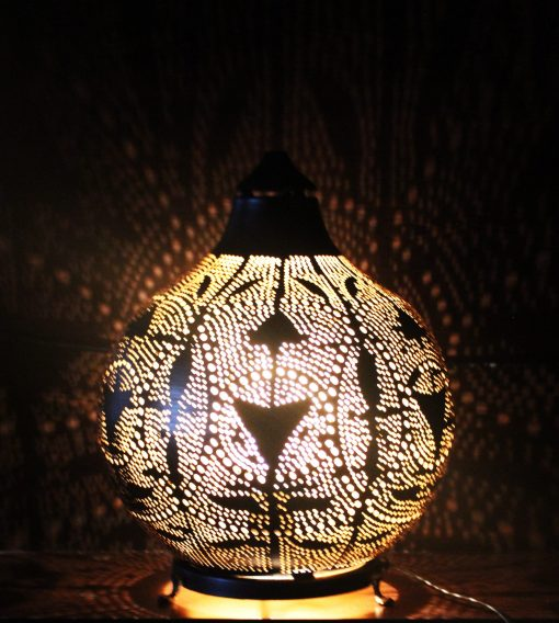 Turkse filigrain tafellamp 21x21x24 cm/ Turkse lamp - turkselampen-online.nl