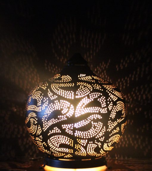 Turkse filigrain tafellamp 31x31x34 cm/ Turkse lamp - turkselampen-online.nl