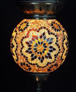 Turkse hanglamp 25 cm bruin - Turkse Lampen Online