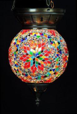 Turkse hanglamp 25 cm multicolour - Turkse Lampen Online