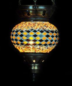 Turkse hanglamp bruin - Turkse Lampen Online