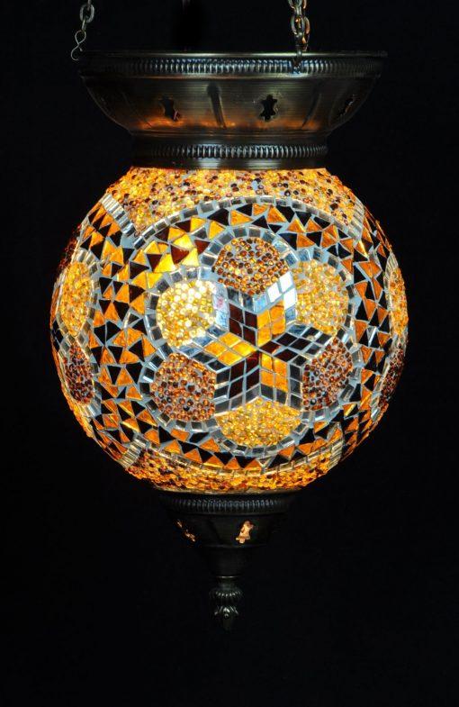 Turkse hanglamp bruin 25 cm - Turkse Lampen Online