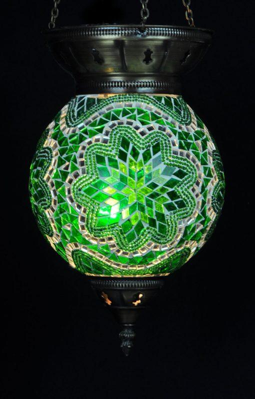 Turkse hanglamp groen - Turkse Lampen Online