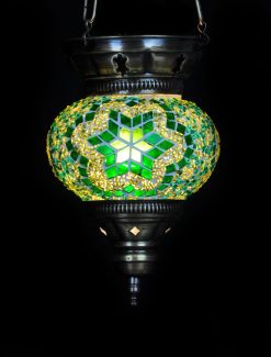 Turkse hanglamp groen klein - Turkse Lampen Online