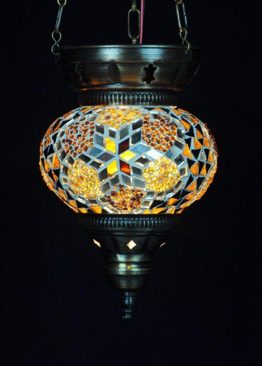 Turkse hanglamp klein bruin - Turkse Lampen Online