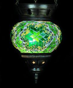 Turkse hanglamp klein groen - Turkse Lampen Online