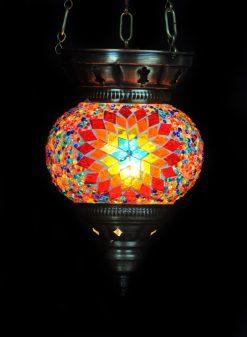 Turkse hanglamp klein multicolour - Turkse Lampen Online