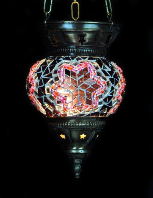 Turkse hanglamp klein paars - Turkse Lampen Online