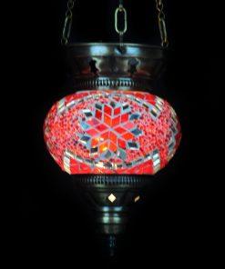 Turkse hanglamp klein rood 2 - Turkse Lampen Online