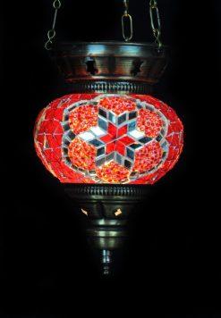 Turkse hanglamp klein rood - Turkse Lampen Online