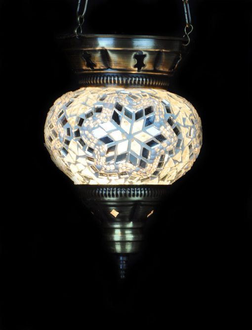 Turkse hanglamp klein wit - Turkse Lampen Online