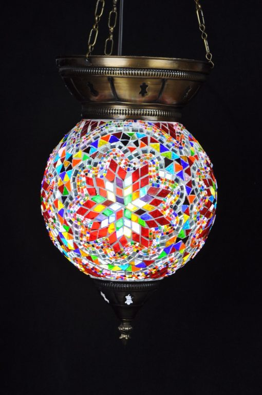 Turkse hanglamp multicolour 2 - Turkse Lampen Online