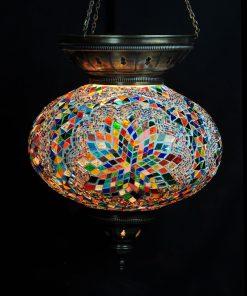 Turkse hanglamp multicolour - Turkse Lampen Online