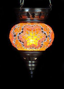 Turkse hanglamp oranje - Turkse Lampen Online