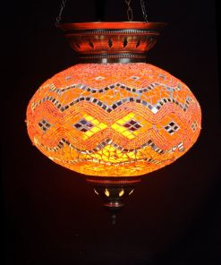 Turkse hanglamp oranje ovaal - Turkse Lampen Online