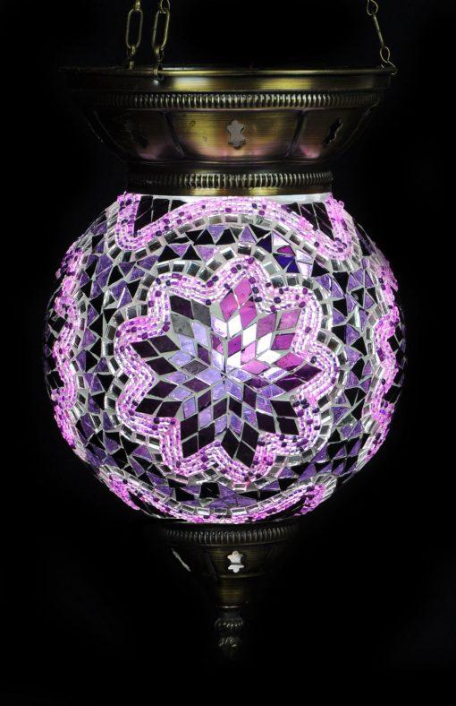 Turkse hanglamp paars 2 - Turkse Lampen Online