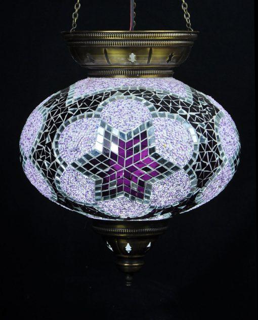 Turkse hanglamp paars - Turkse Lampen Online