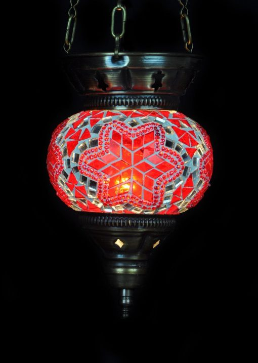 Turkse hanglamp rood - Turkse Lampen Online