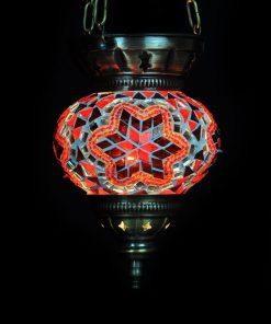 Turkse hanglamp rood klein - Turkse Lampen Online