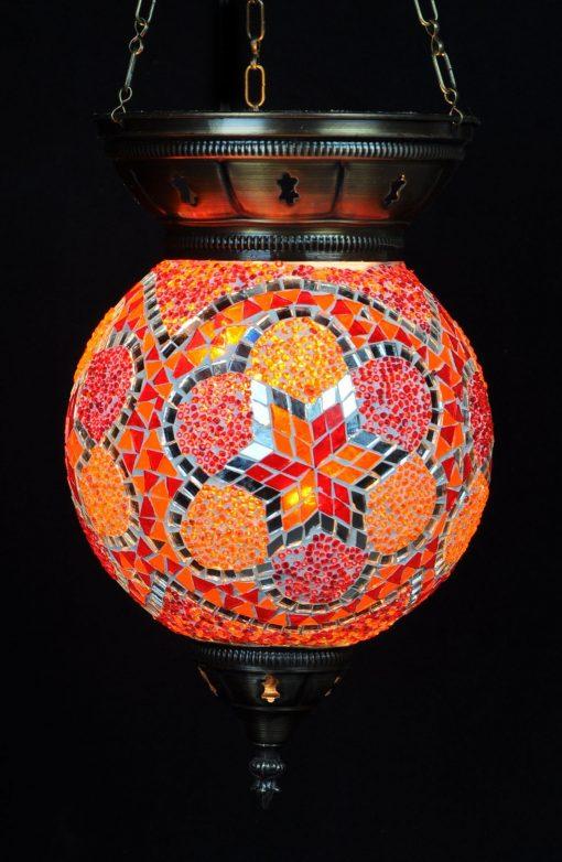 Turkse hanglamp rood-oranje - Turkse Lampen Online