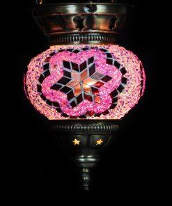 Turkse hanglamp roze - Turkse Lampen Online