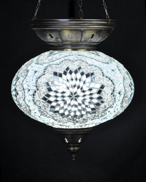 Turkse hanglamp wit ovaal - Turkse Lampen Online