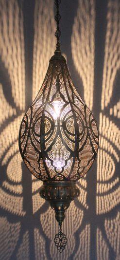 Turkse filigrain hanglamp/ Turkse hanglamp - turkselampen-online.nl