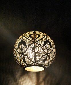 Turkse filigrain hanglamp 20x20x32 cm/ Turkse hanglamp - turkselampen-online.nl