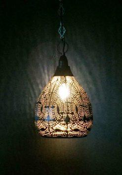 Turkse filigrain hanglamp 20x20x40 cm/ Turkse lamp - turkselampen-online.nl