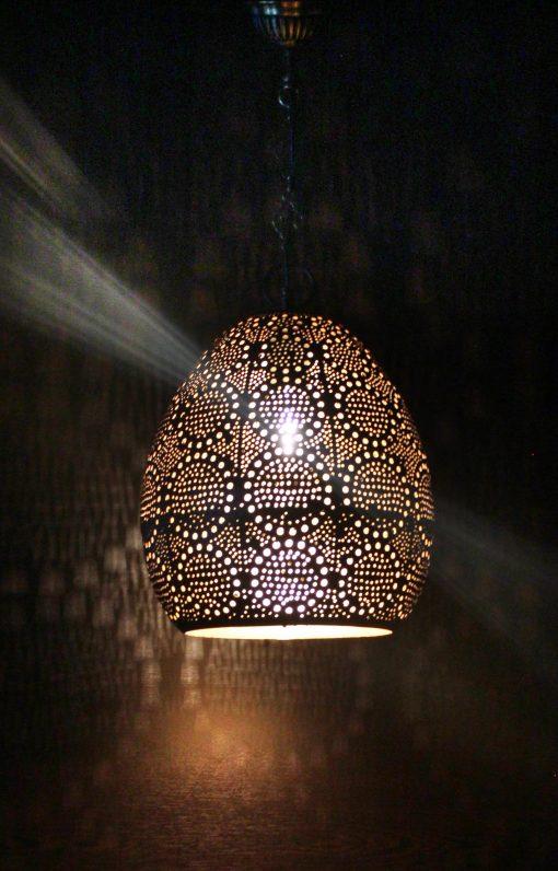Turkse filigrain hanglamp 25x25x45 cm/ Turkse hanglamp - turkselampen-online.nl