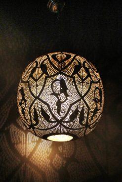 Turkse filigrain hanglamp 40x40x52 cm/ Turkse hanglamp - turkselampen-online.nl